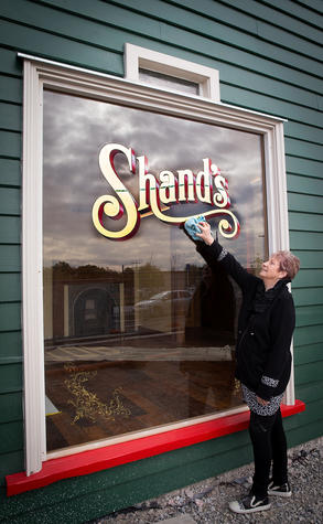 Anna Crighton at the Shand's building now on Manchester St. Photo: Martin Hunter
