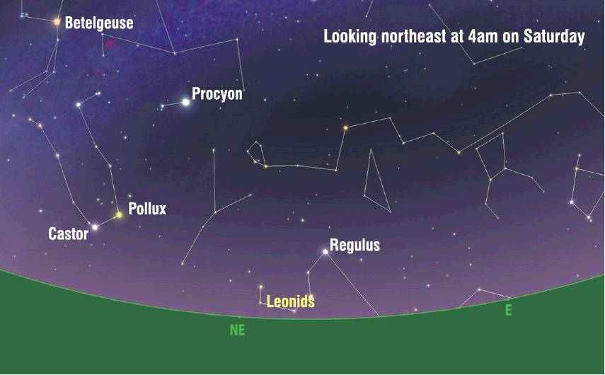 Stargazers have chance to see Leonid meteor shower this Friday