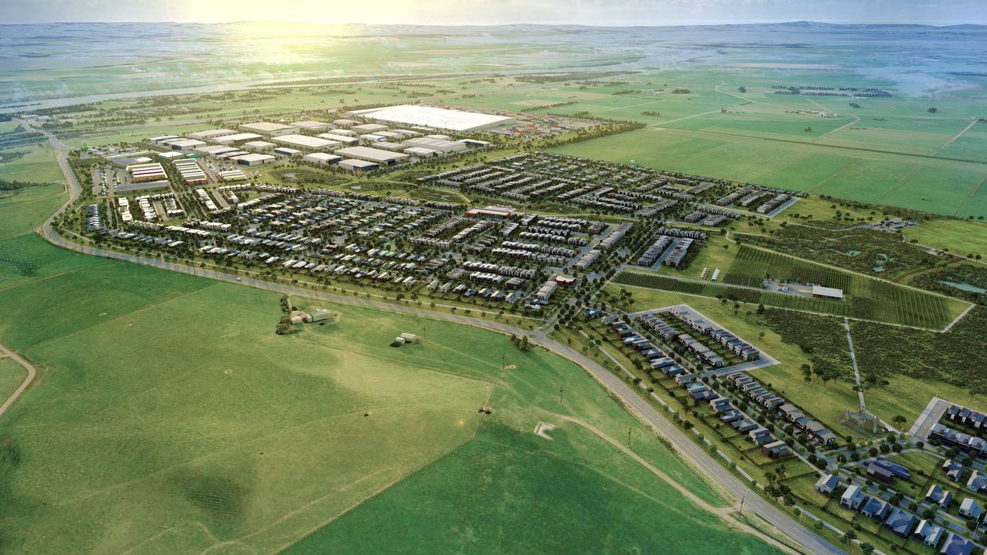 The 176ha site, 5km north of Huntly, would include 1100 new homes over the next 10 years, while...