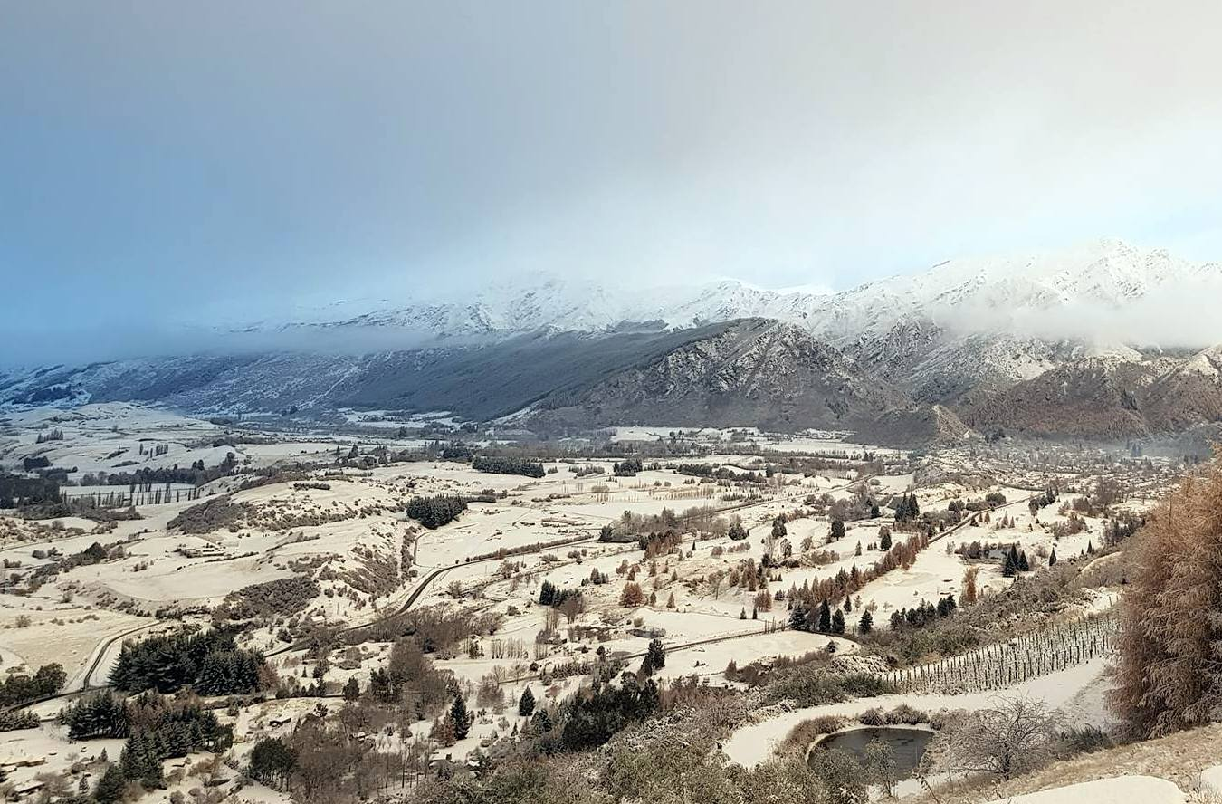 Arrowtown woke to a dusting of snow this morning. Photo: Jeremy Carey-Smith