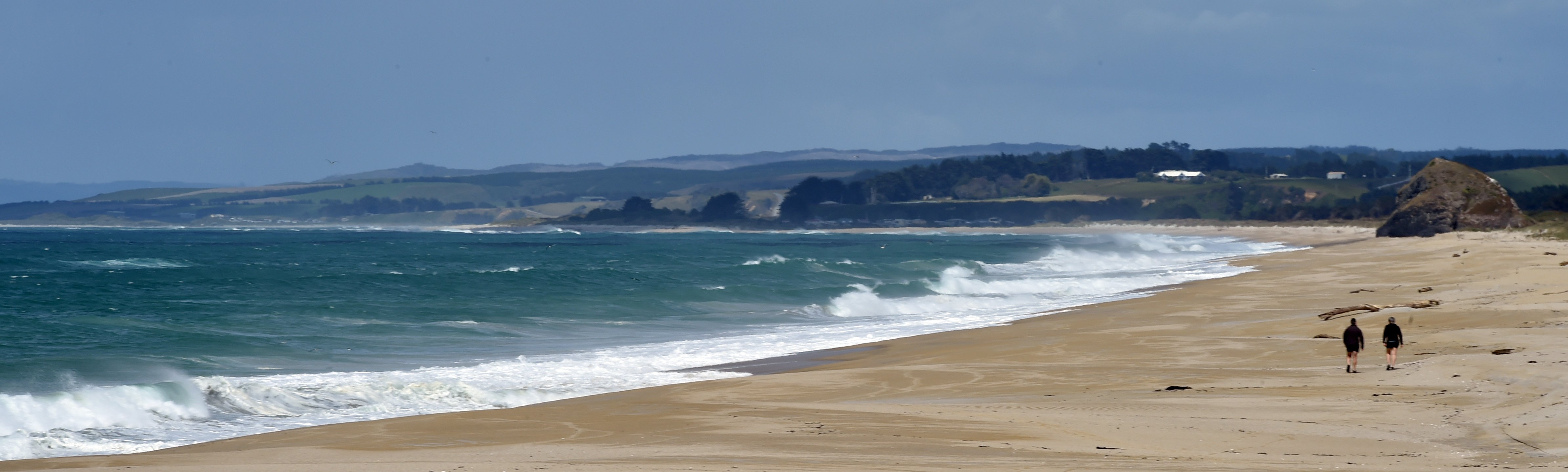 It may have crystal clear water and white sand, but the beach, 16km southeast of Milton, was...