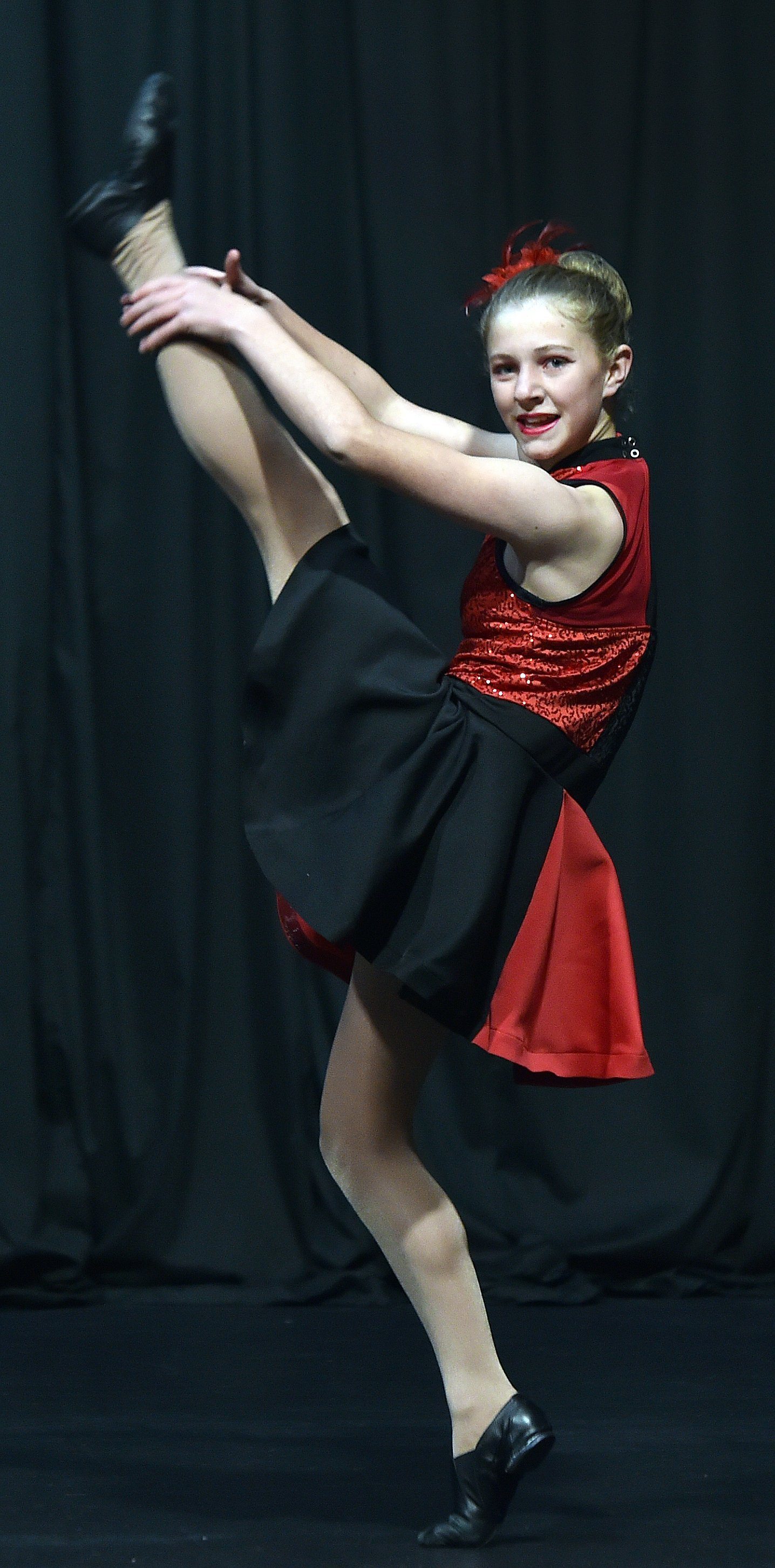 Elizabeth Pell competes in the Modern Jazz 12 and 13 years at the Dunedin Performing Arts...