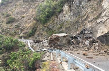 The slip site earlier today. Photo: NZTA