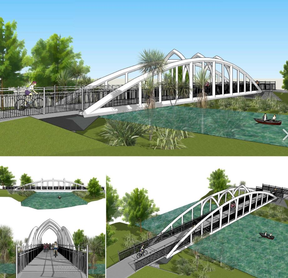 An artist's impression of the Snell Bridge. Image: Newsline / CCC