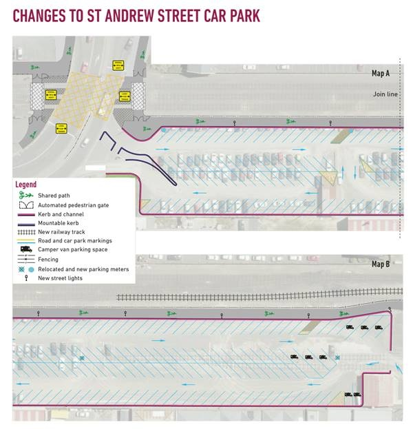 To ease demand for parking from commuters and Christmas shoppers the St Andrew St car park is set to be reopened. Image: Supplied
