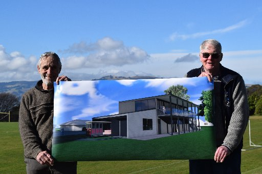 Dunedin Heritage Light Rail Trust chairman Neville Jemmett (left) and member Stuart Payne, both...