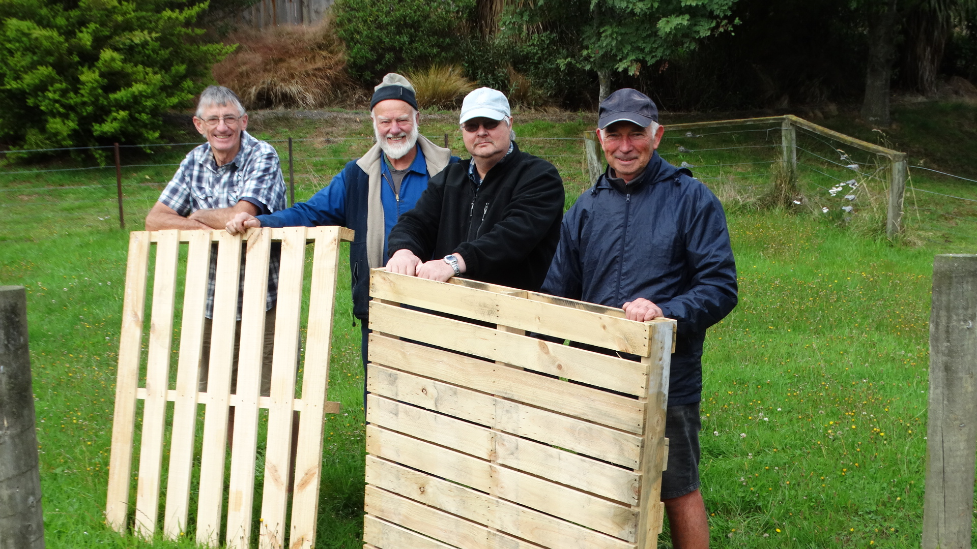 Green Island Shed founder members (from left) Brian Kane, David Mackle, Brent Aplin and Ian Hand,...