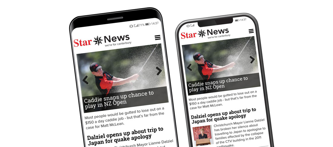 Star News app shown on android and iphone