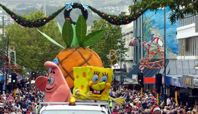 Plea to save Spongebob for Santa Parade | Otago Daily Times Online ...