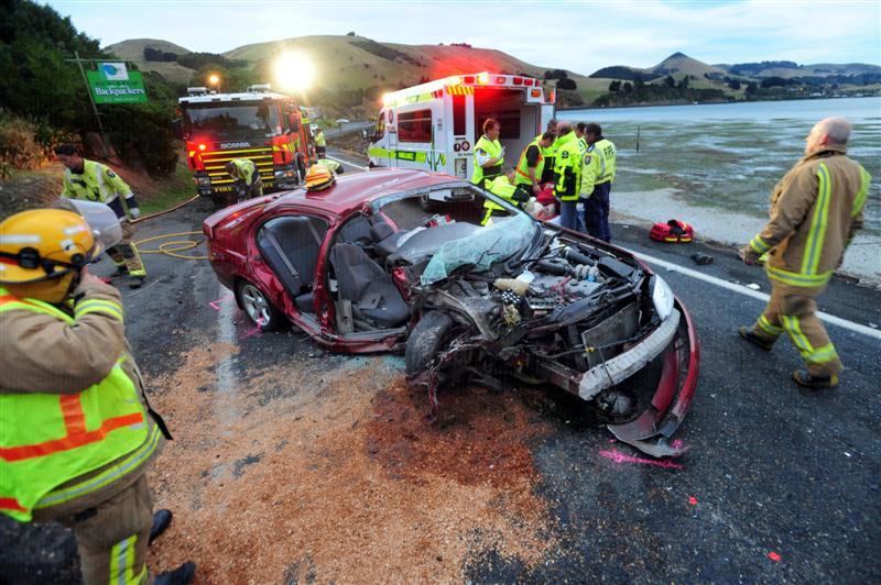 Serious Injuries After Peninsula Crash