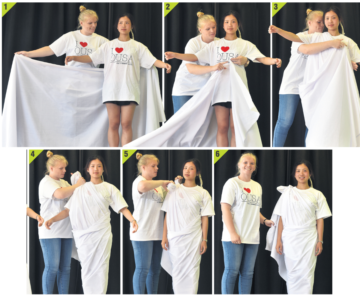 well tied toga roman style height of fashion video otago