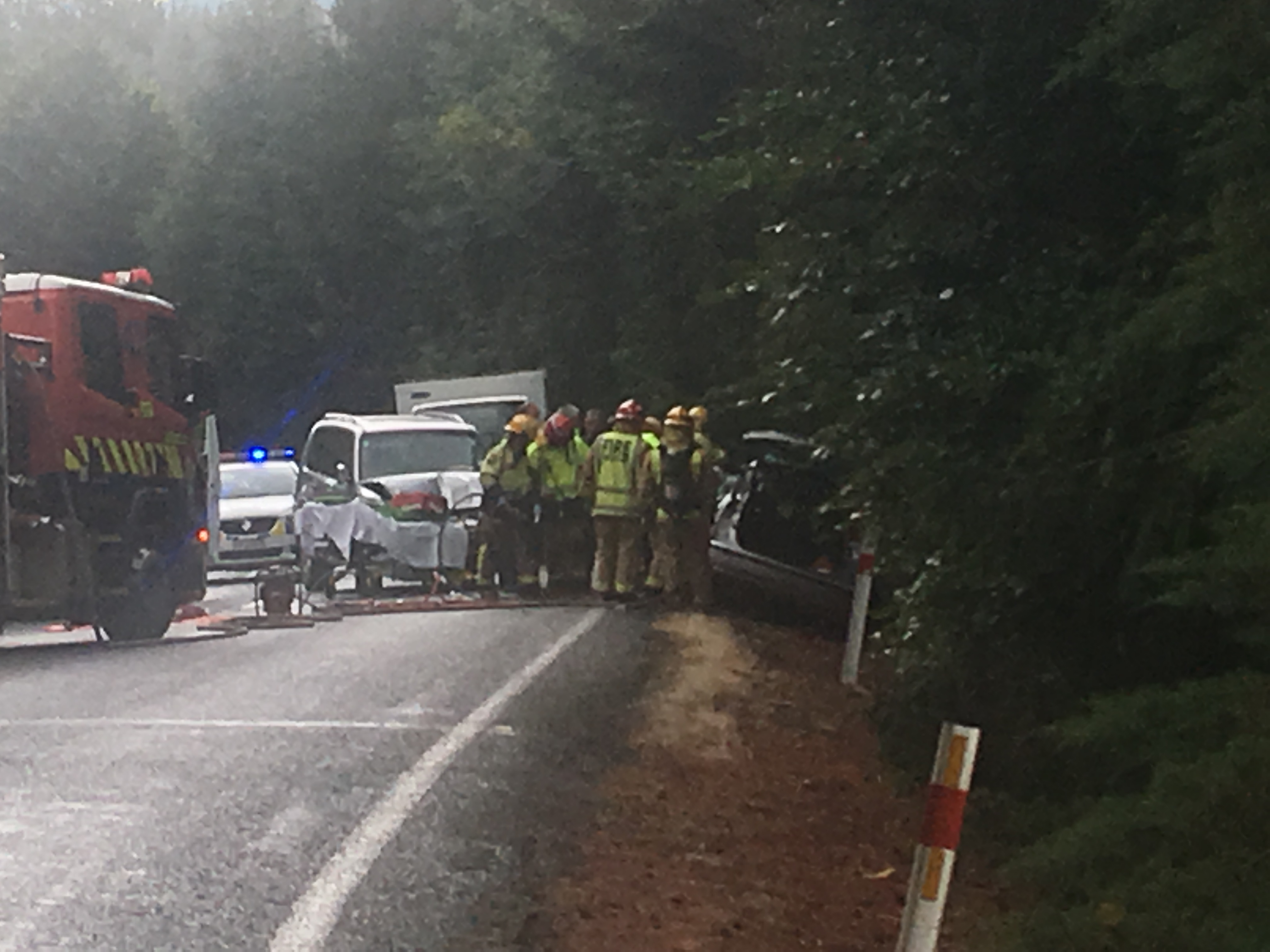 Two taken to hospital after two-car crash