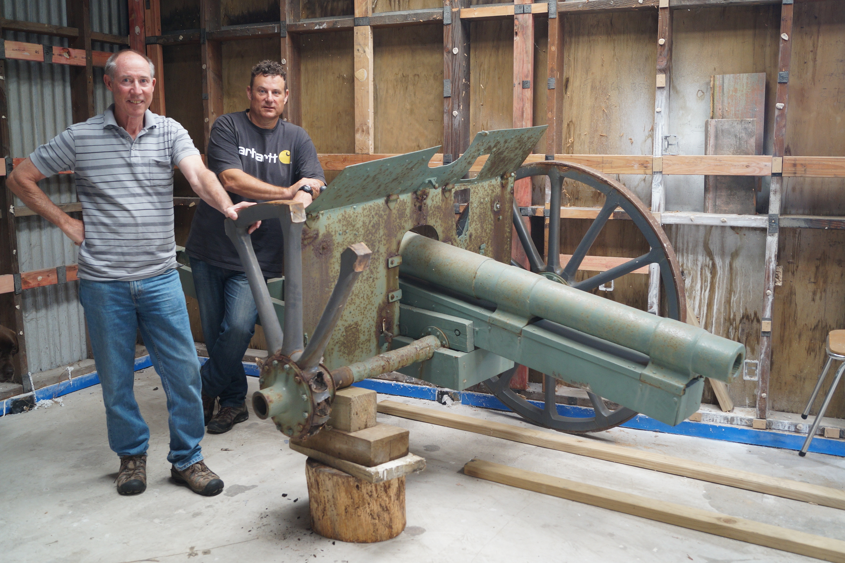 Wheels sought for 1909 cannon
