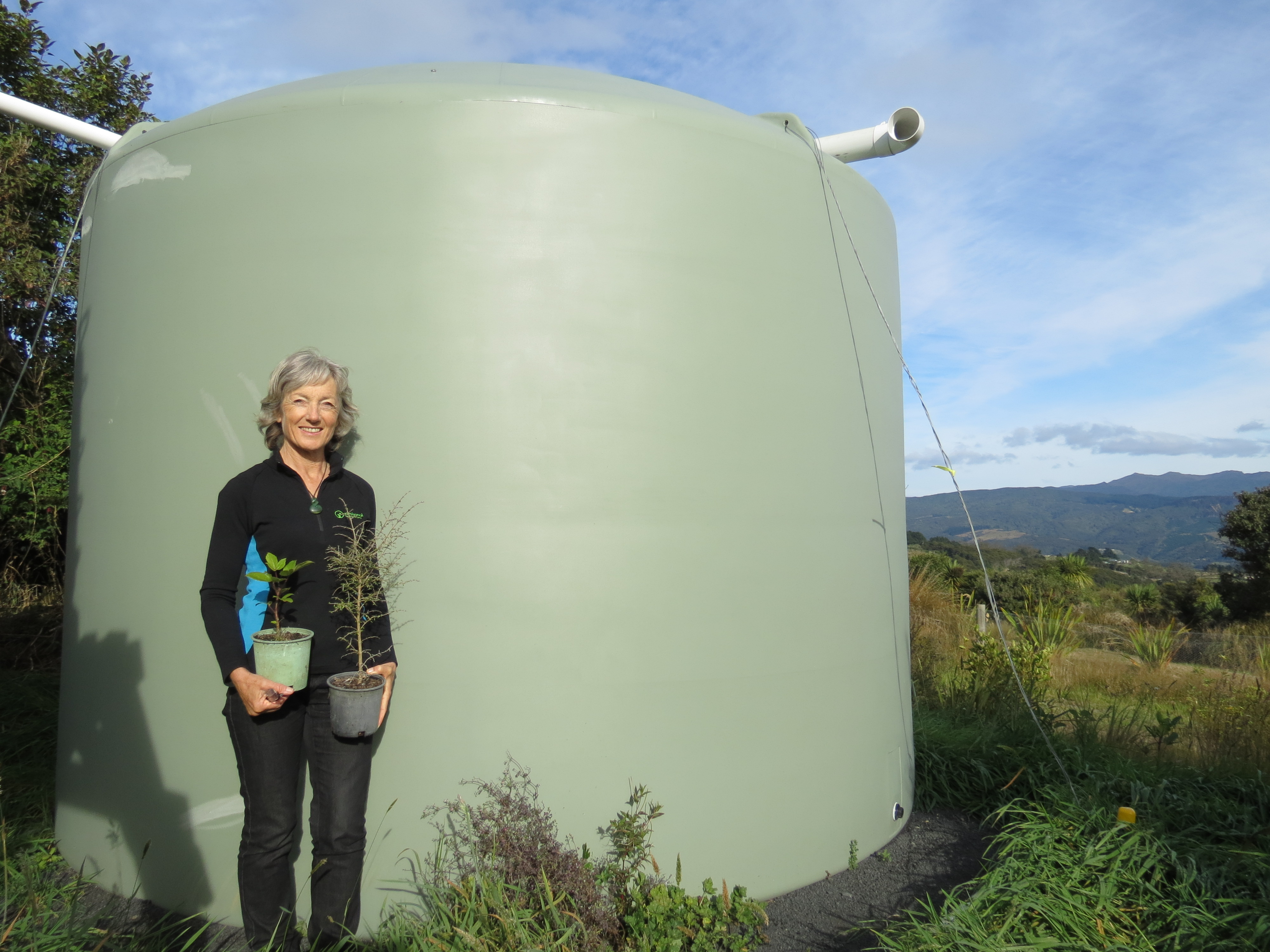 Benefits flow from water tank