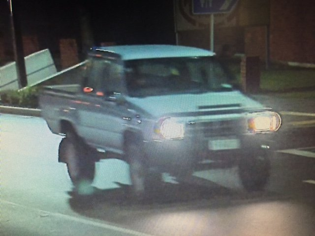 This ute was seen leaving the scene. Photo: NZ Police.