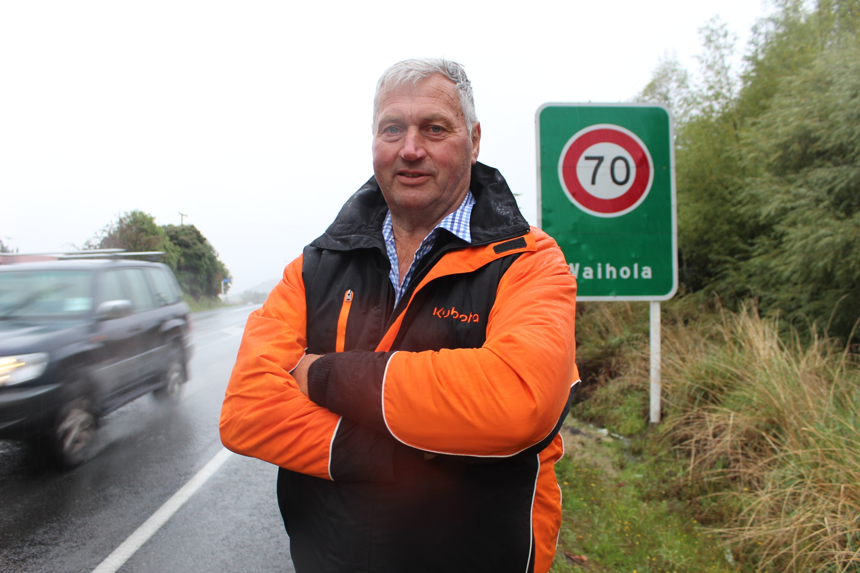 Waihola Looking Forward group chairman Stu Michelle is glad the NZTA will be looking at reducing...