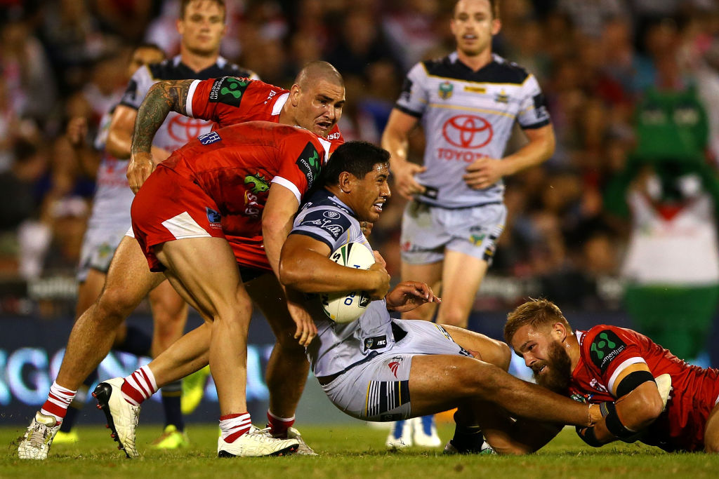 The Dragons were able to hold off improved play from the Cowboys in the second half. Photo: Getty