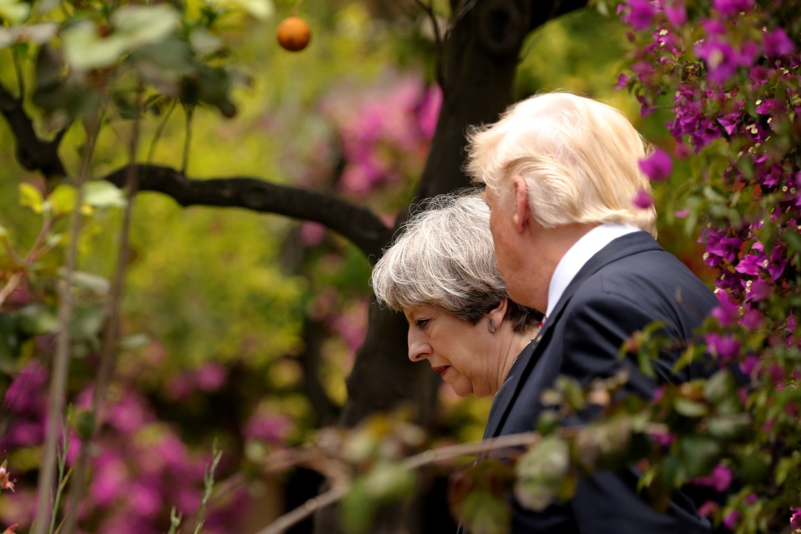 May raised intelligence concerns with Trump after leaks row
