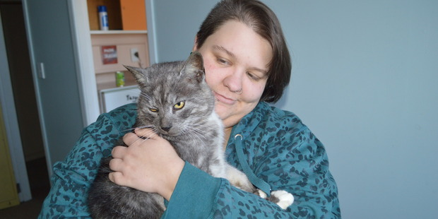 Tyke has been reunited with Chantelle Scott. Photo: Greymouth Star