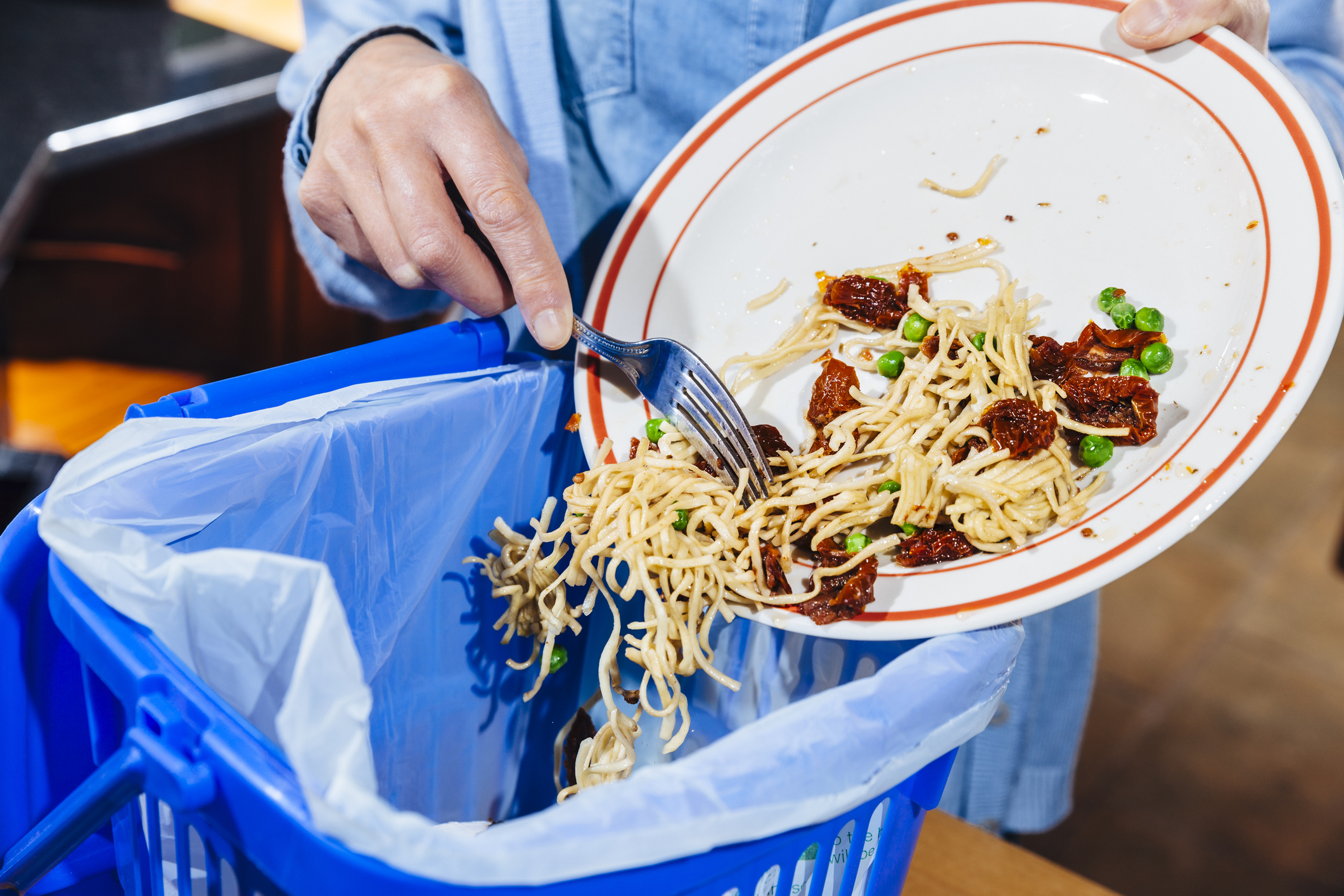 Food waste makes up almost half of what goes in householders' rubbish, Auckland Council figures...