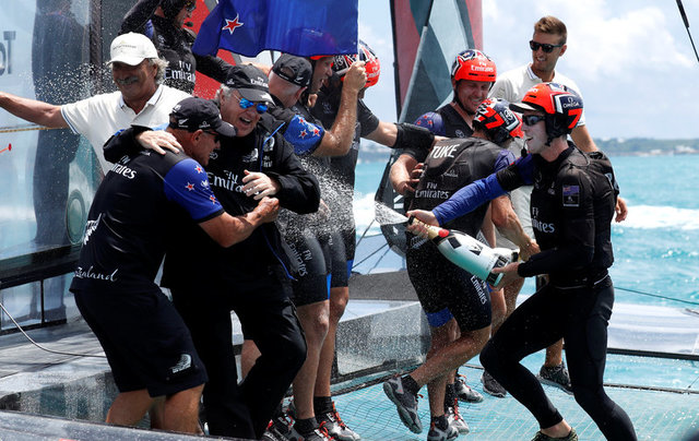 Over 100,000 people are set to welcome the victorious Team NZ. Photo: Reuters
