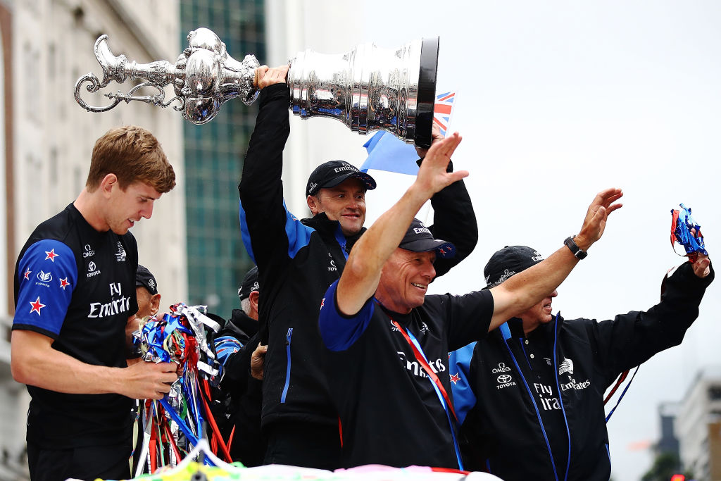 America's Cup 2017: Auld Mug arrives back in New Zealand