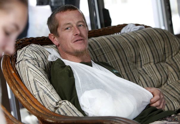 Commercial fisherman Dan Alders is resting up after he was stabbed by a stingray. Photo: Michael...