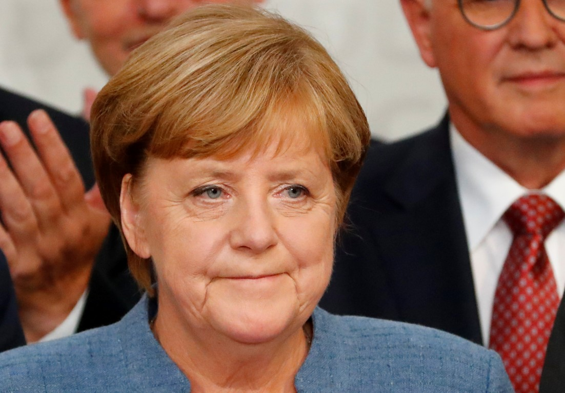 Angela Merkel. Photo Reuters