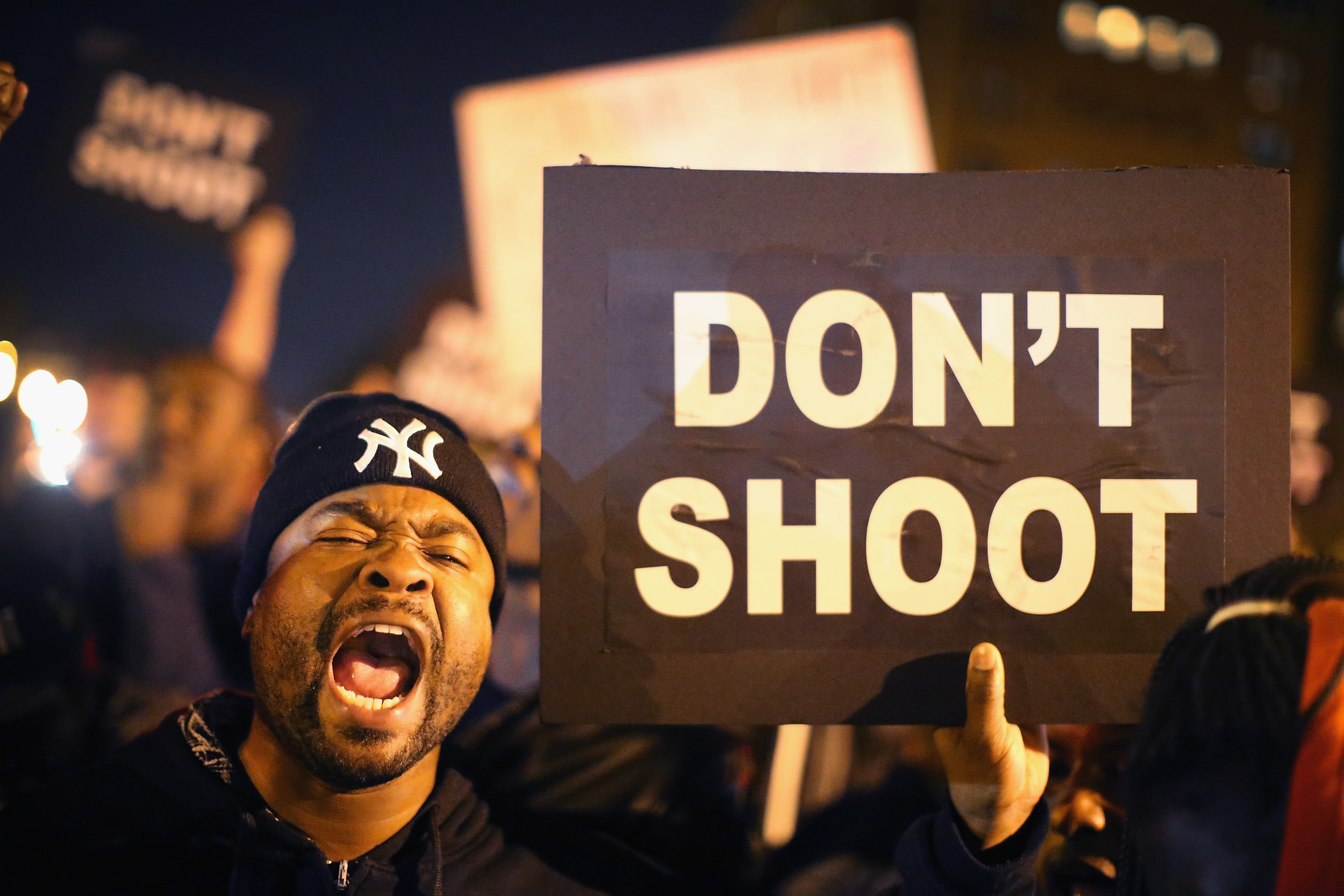 Protesters took to the streets following the acquittal of a St Louis police officer in the killing of a black man. Photo:Getty Images