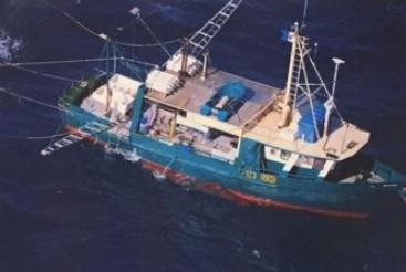 Sunken trawler found, six presumed dead