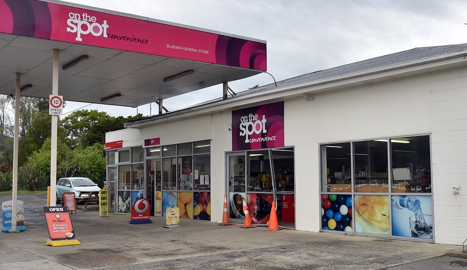 The On the Spot store in Waitati was damaged in a burglary early today. Photo: Peter McIntosh