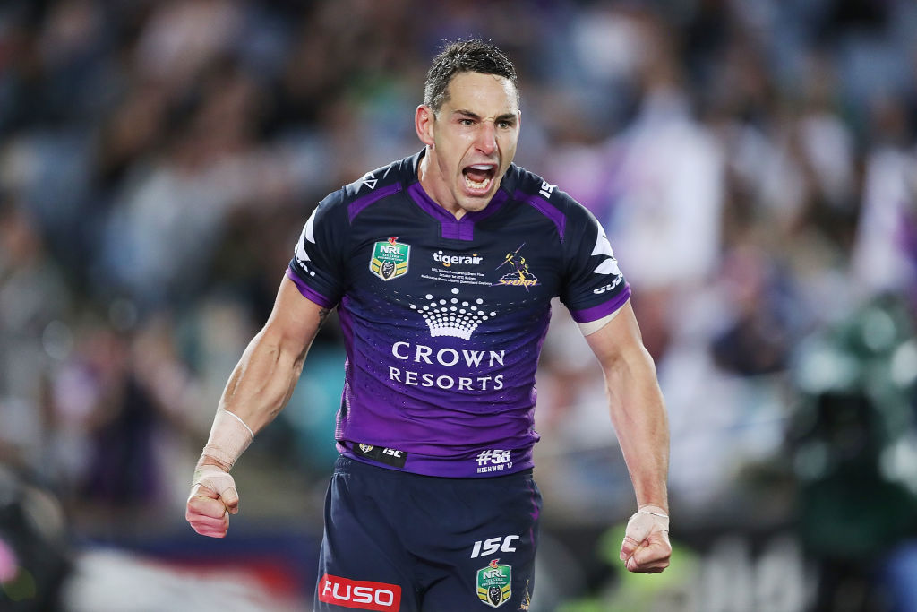 Melbourne Storm champion Billy Slater to play on in 2018