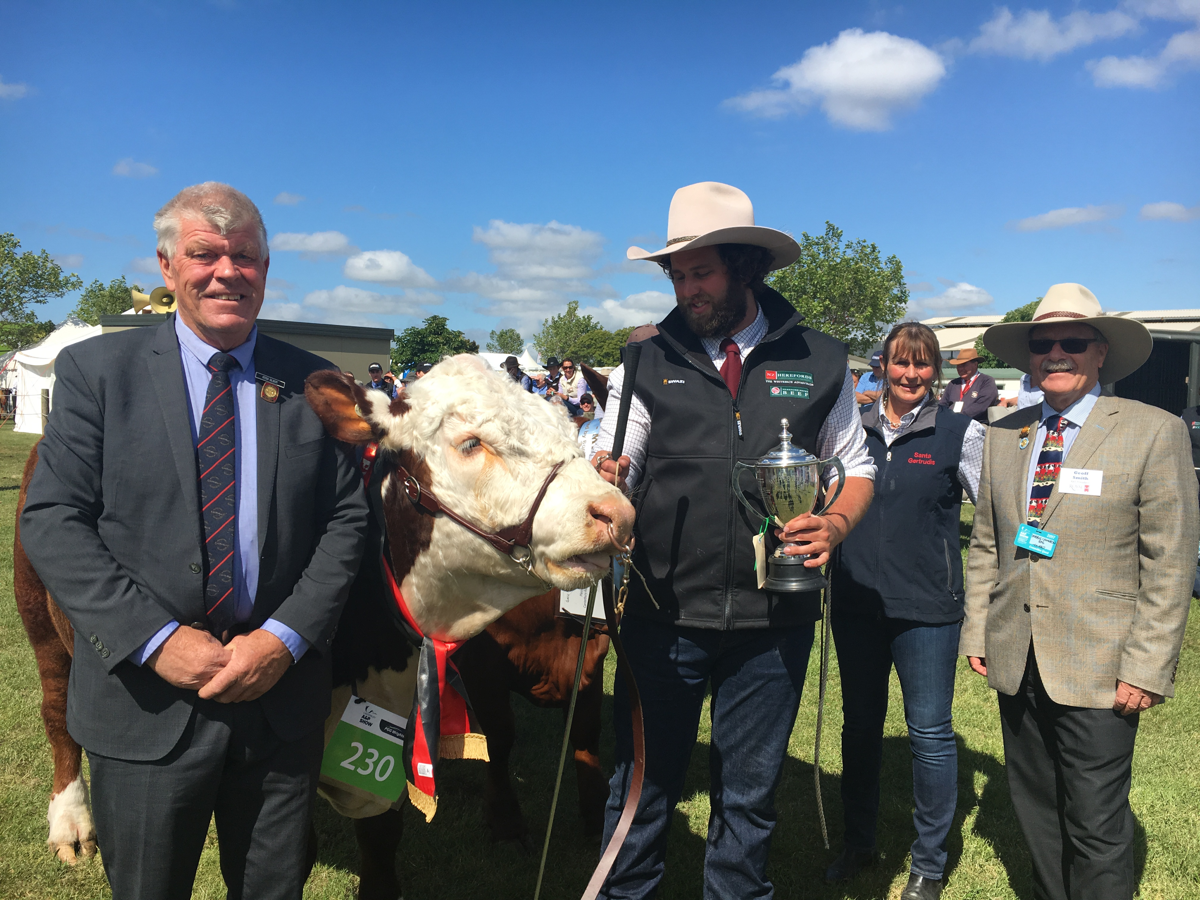 Canterbury A&P Association president Peter Gilbert (left), of Ashburton, and Royal Agricultural...
