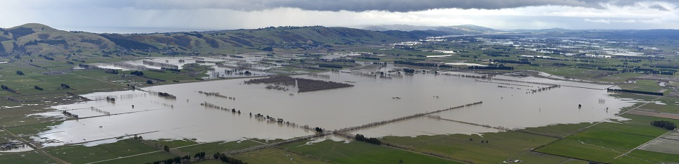 Flooding on the Taieri in July. Photo ODT