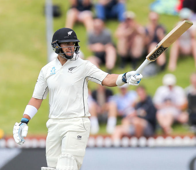Ross Taylor acknowledges reaching his half-century. Photos Getty