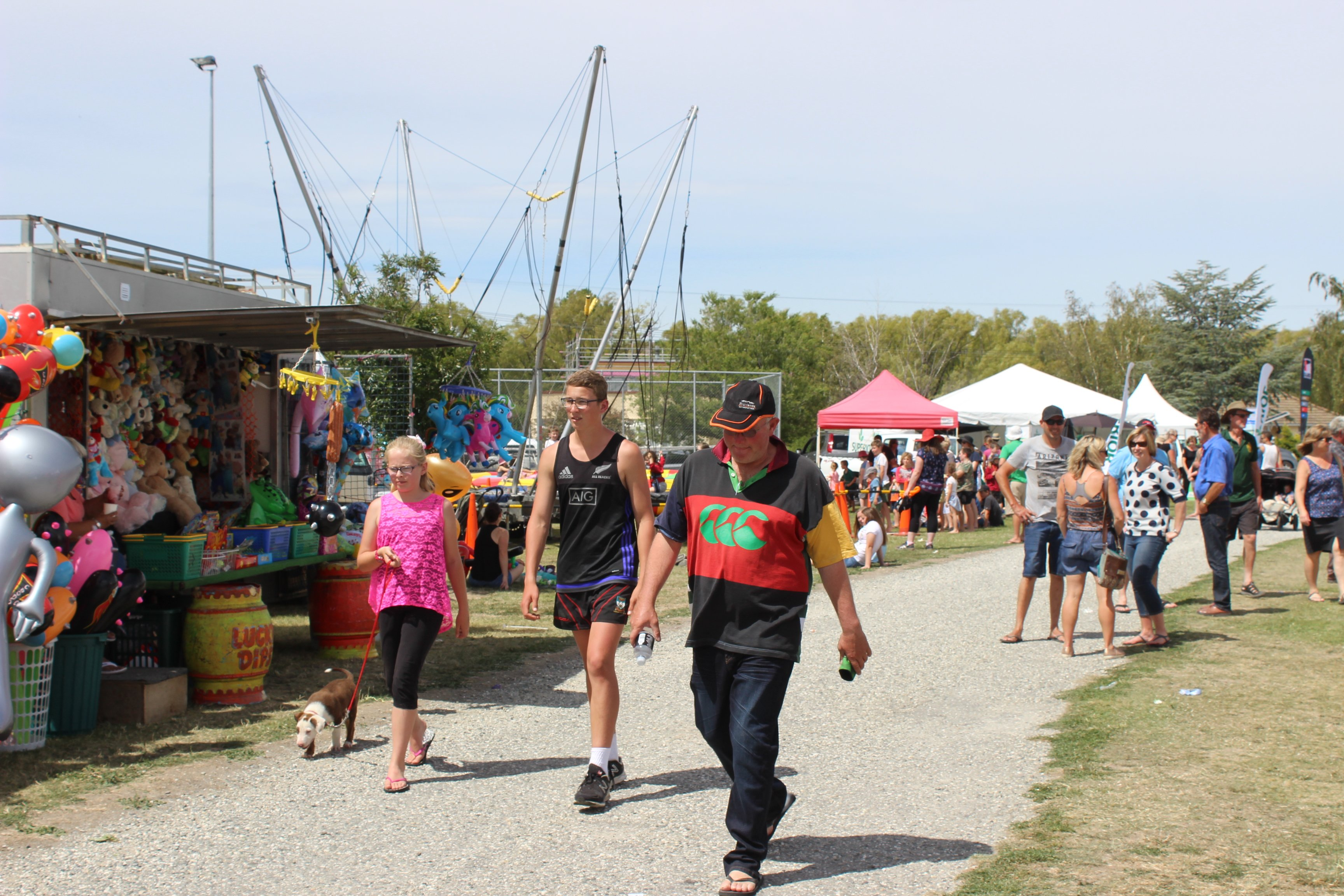 The crowd's enjoying the Central Otago A and P Show in February this year.