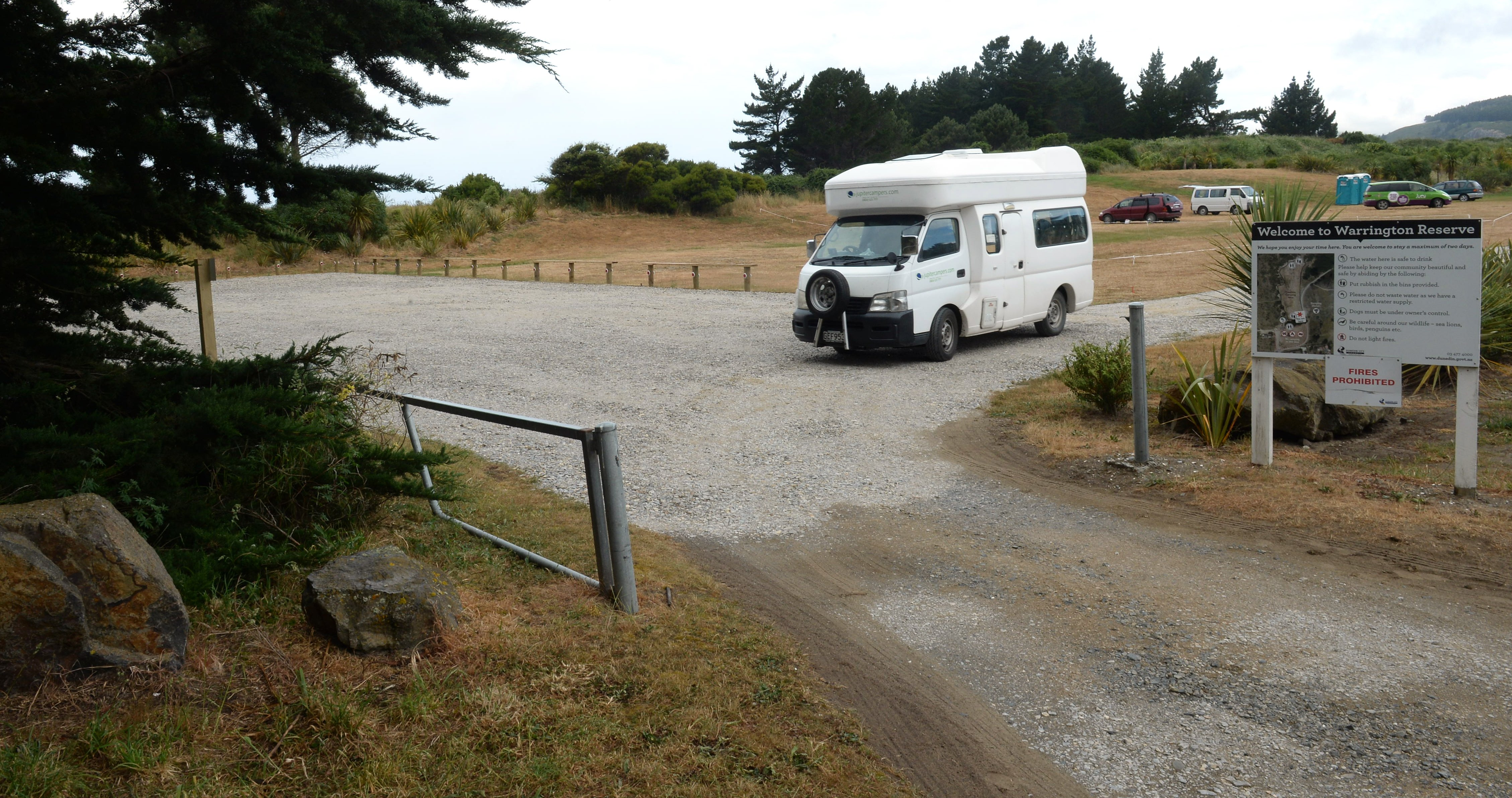 Warrington domain area gravelled for freedom campers