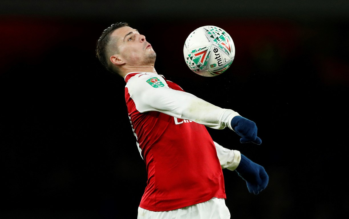 Granit Xhaka scored the winner for Arsenal against Chelsea. Photo Reuters