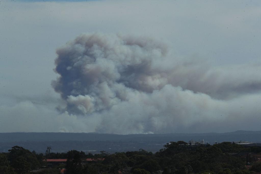 Aerial Footage Shows Bushfires Burning at Royal National Park