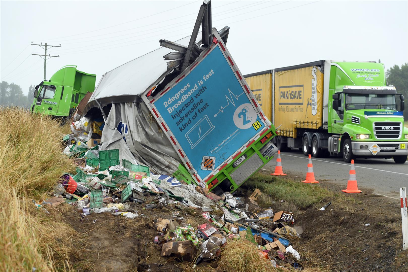 Second Summerland truck crashes
