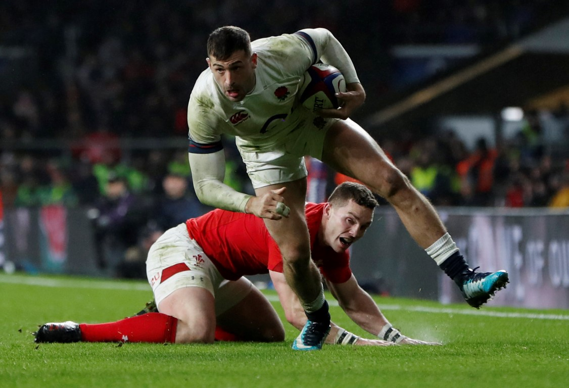 Winger Jonny May on the charge for England. Photo: Reuters