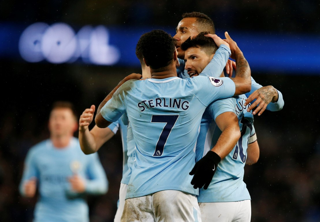 Aguero scores 4 as leader Man City thrash Leicester 5-1