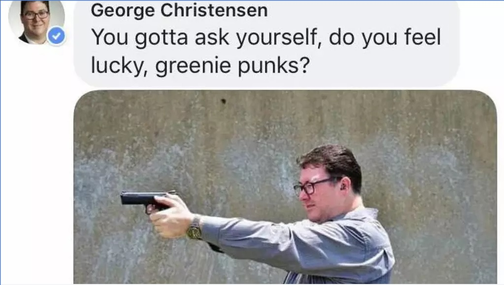 Australia politician slammed for Facebook gun photo