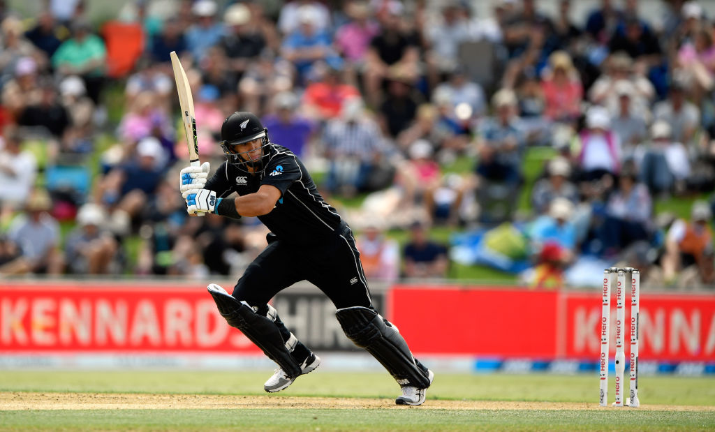 Ross Taylor picks up some runs in the second ODI against England. Photo Getty