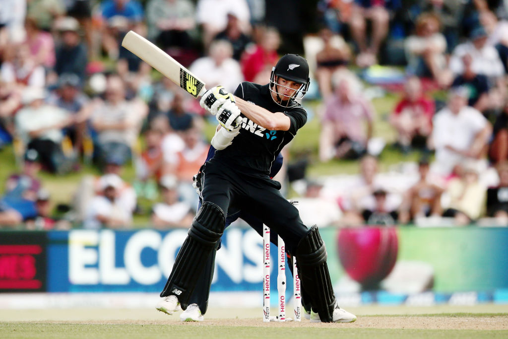 ddbe374c875 Mitchell Santner top-scored for New Zealand against England in the second  ODI. Photo