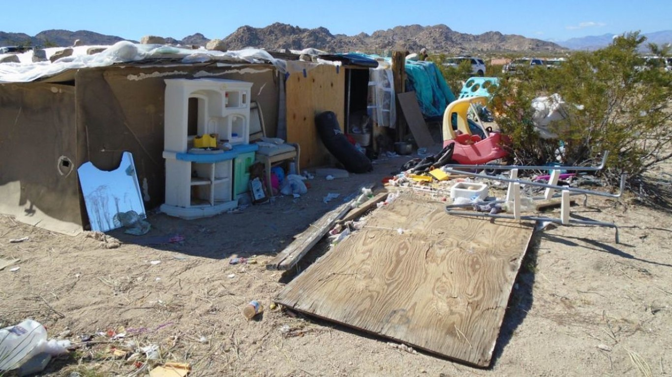 Parents arrested after family is found living in filthy California desert shack