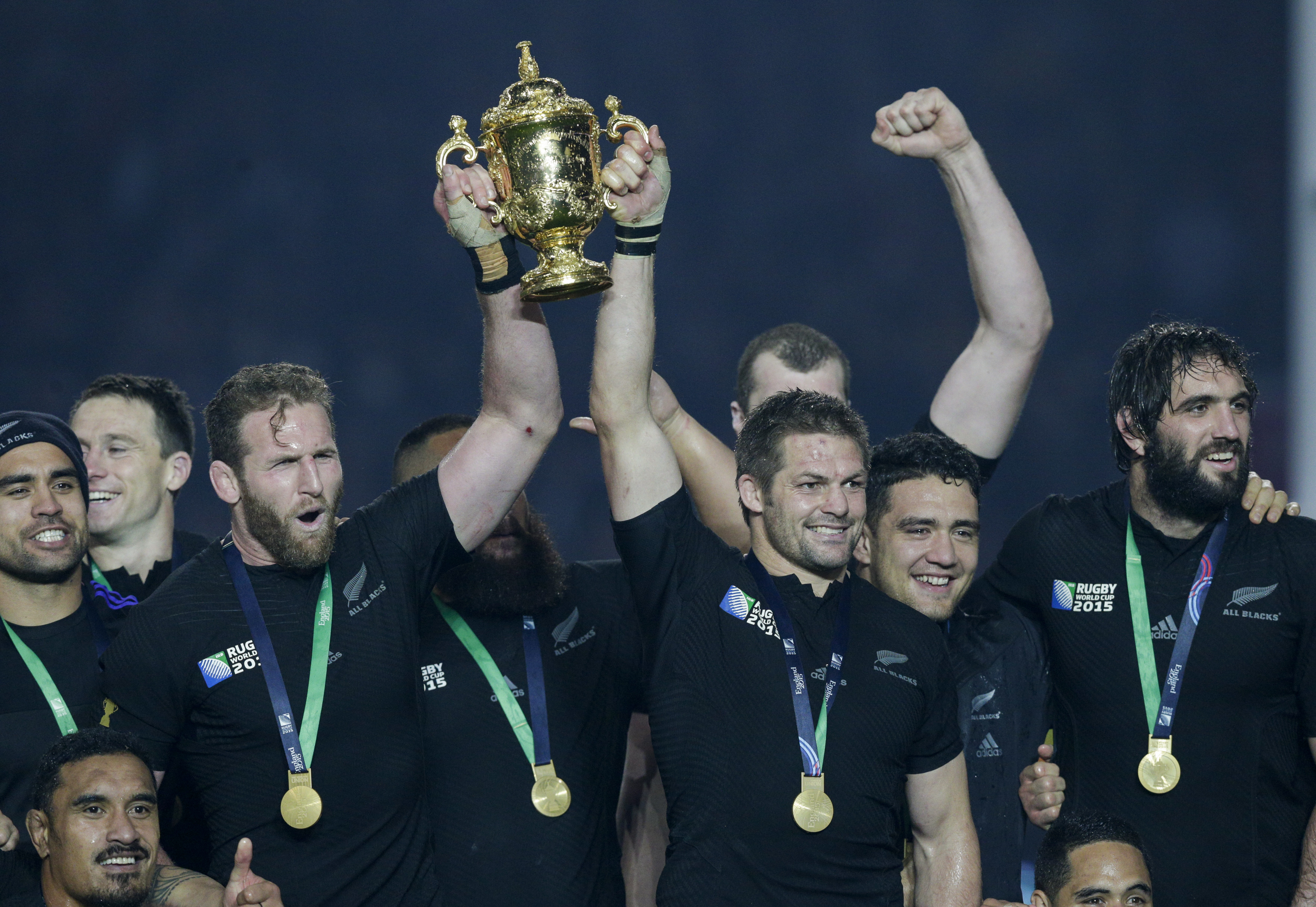 The All Blacks celebrate winning in World Cup in 2015. Rugby is a major drawcard for Sky...