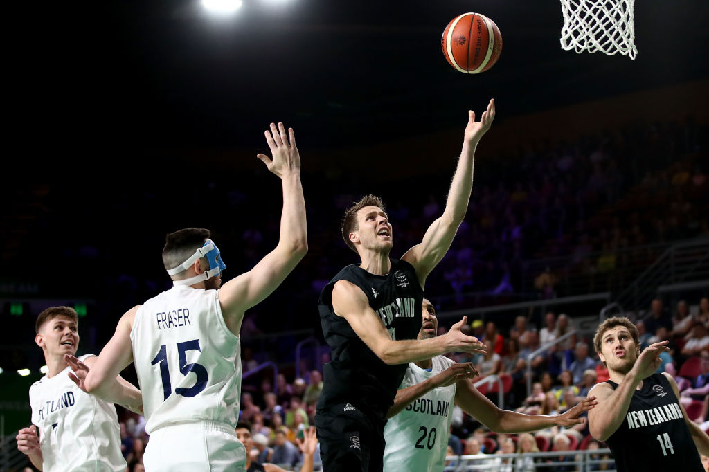 Thomas Abercrombie (10) in action for New Zealand against Scotland. Photo: Getty