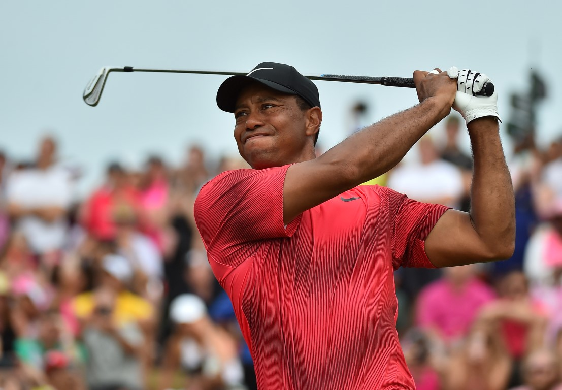 Tiger Woods in action during the recent Players Championship. Photo: Jasen Vinlove-USA TODAY Sports