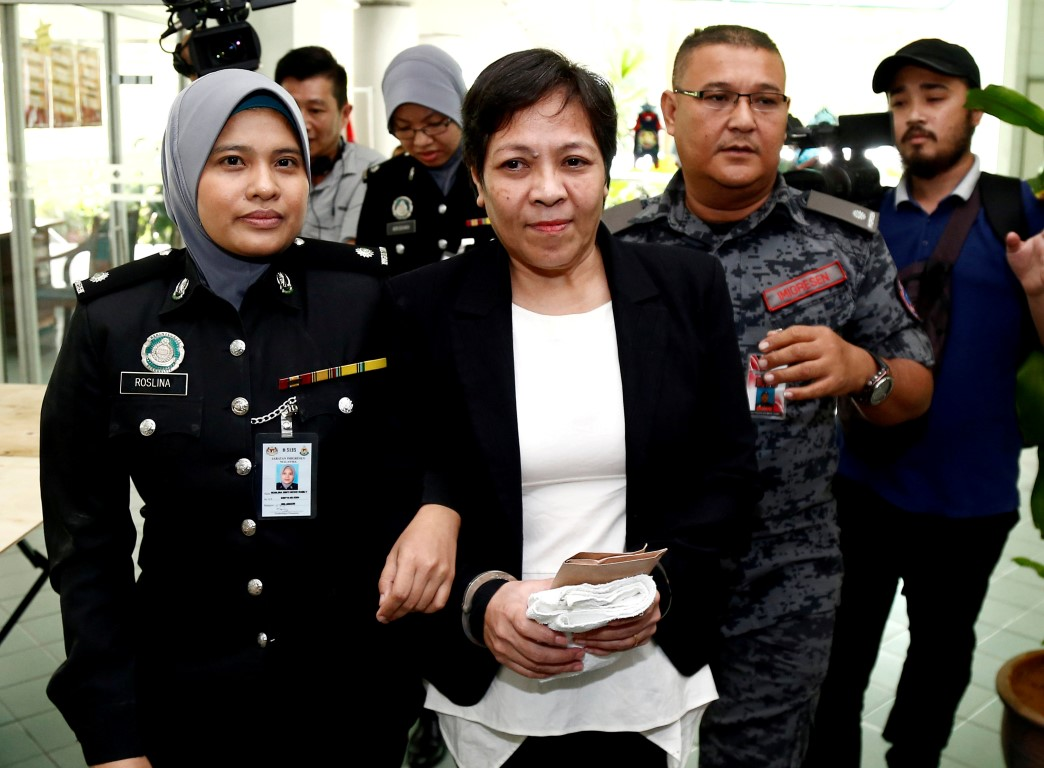 Maria Elvira Pinto Exposto at the High Court in Shah Alam, outside Kuala Lumpur in December last...